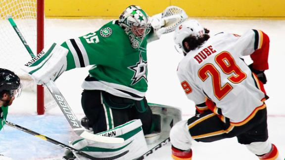 Dube, Andersson lead Flames over Stars in Game 1