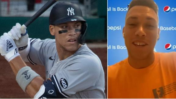 Aaron Judge explains how he misses fans at the games