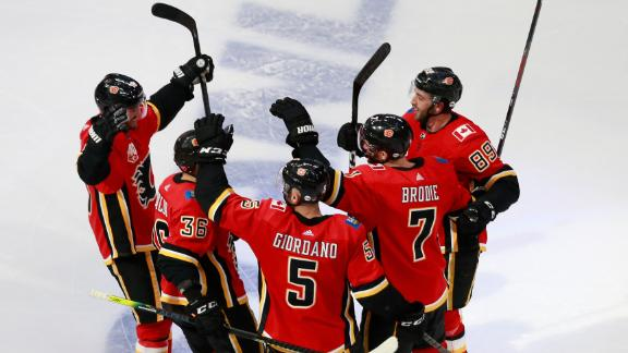 Backlund, Brodie net goals as Flames knot series at 1-1