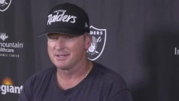 Gruden fired up by Mariota's recent performance