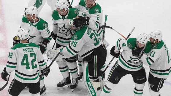 Stars top Flames in OT to even series