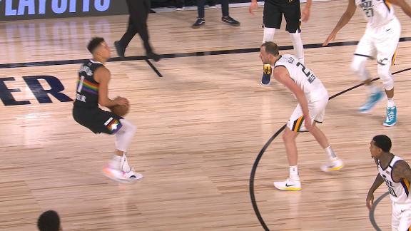 Porter knocks down deep 3 to force a Jazz timeout