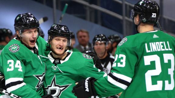 Stars take series lead 3-2 on Klingberg's game-winner