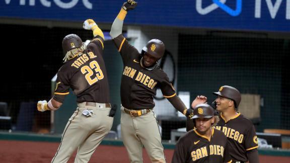 Tatis' 7-RBI night powers Padres in rout of Rangers