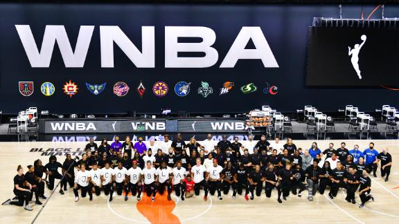 Jefferson and Barnes praise WNBA for taking the lead on fighting social injustice