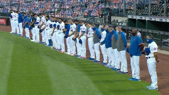 Mets, Marlins take 42-second moment of silence before game is postponed