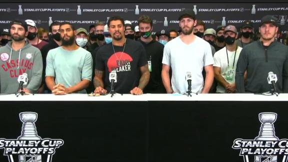 NHL players stand in solidarity to support Black lives