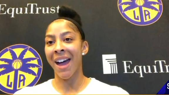 Candace Parker proud of NBA and WNBA protesting in unity