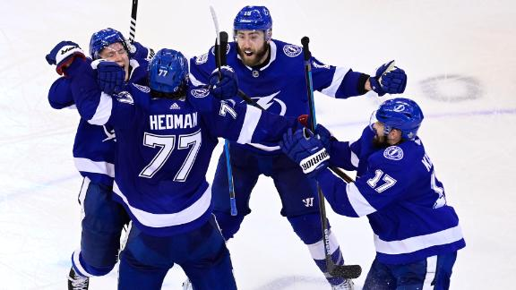 Hedman's goal wins it in double OT for Lightning