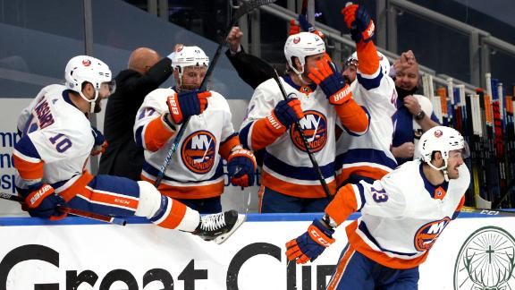 Islanders stave off elimination with gutsy 2OT win