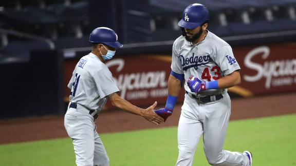 Rios homers in Dodgers' win