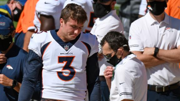 Drew Lock forced from game with injury to throwing shoulder