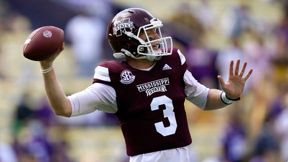 Mississippi State's Costello cooks defending champ LSU for 5 TDs and 623 yards