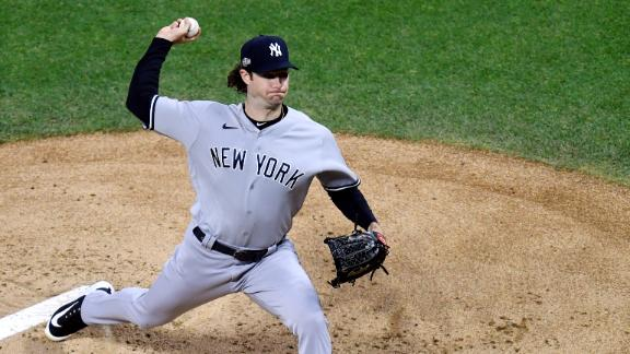 Cole dominates with 13 K's in Yankees postseason debut