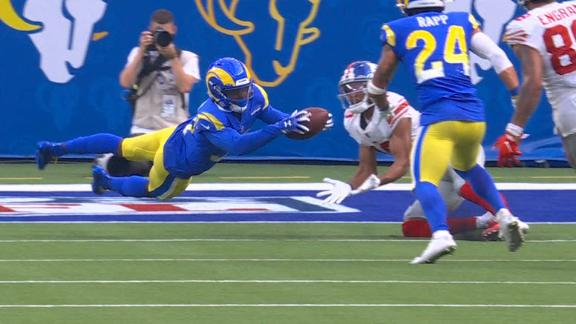Darious Williams picks off Daniel Jones to seal Rams' win over Giants