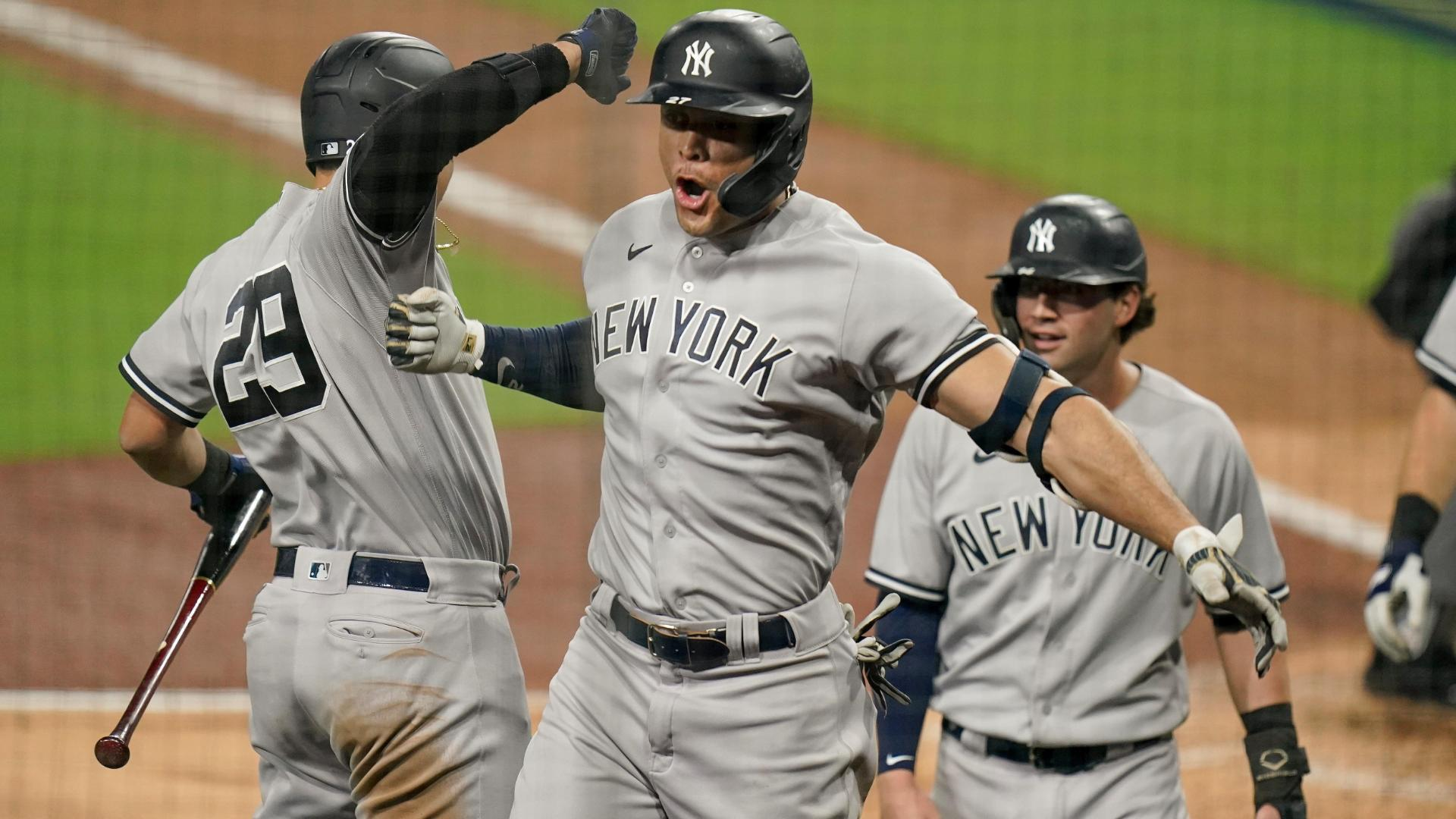 Stanton's grand slam blows game open in ninth