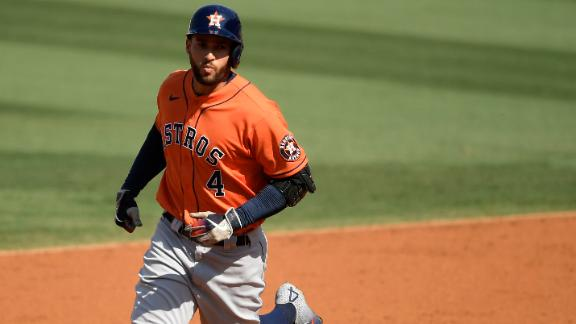Springer blasts two dingers as Astros take 2-0 series lead over A's