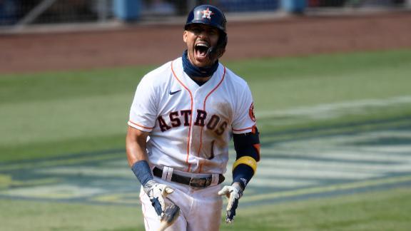 Correa records 5 RBIs in Astros' Game 4 win vs. A's