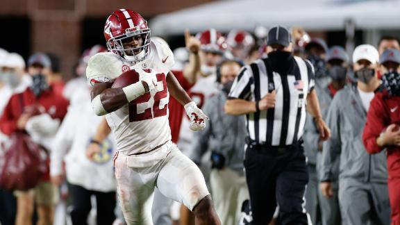 Harris goes off for 5 TDs as Bama puts away Ole Miss