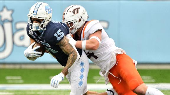 UNC tops Virginia Tech in back-and-forth scoring battle