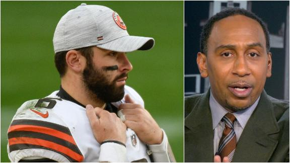 Stephen A. on Mayfield: 'He chirps better than he plays football right now'