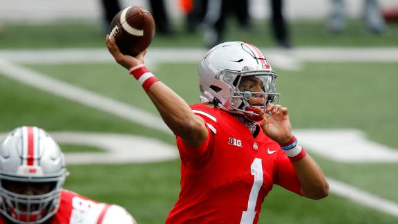 Fields' three-TD day leads Ohio State to win in opener