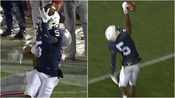 Dotson makes back-to-back one-handed grabs, scores TD