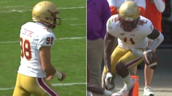John Tessitore draws Clemson offside, leading to Lewis' incredible TD catch