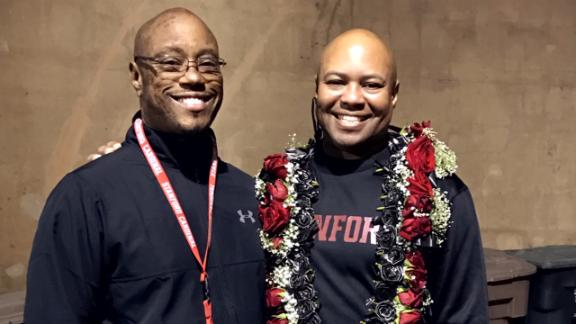 How Stanford coach David Shaw saved his brother's life