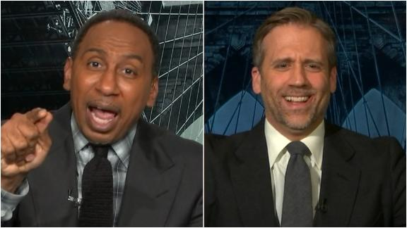 Stephen A. confronts Max for abandoning the Knicks