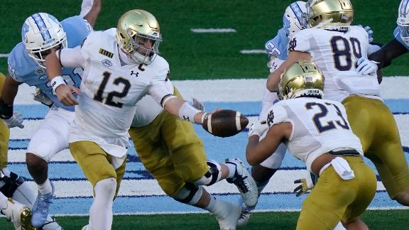 Notre Dame stays perfect with decisive win over No. 19 UNC