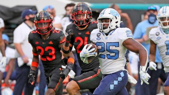 UNC racks up 62 points, 778 yards in rout of Miami