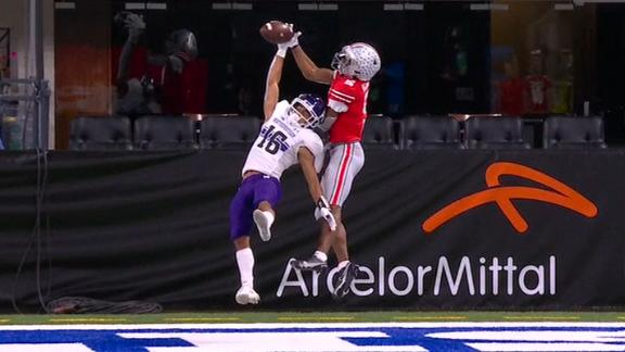 Joseph makes incredible one-handed interception in the end zone