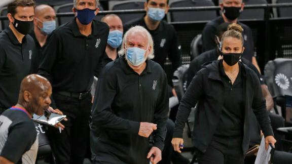 Hammon takes over after Popovich gets ejected