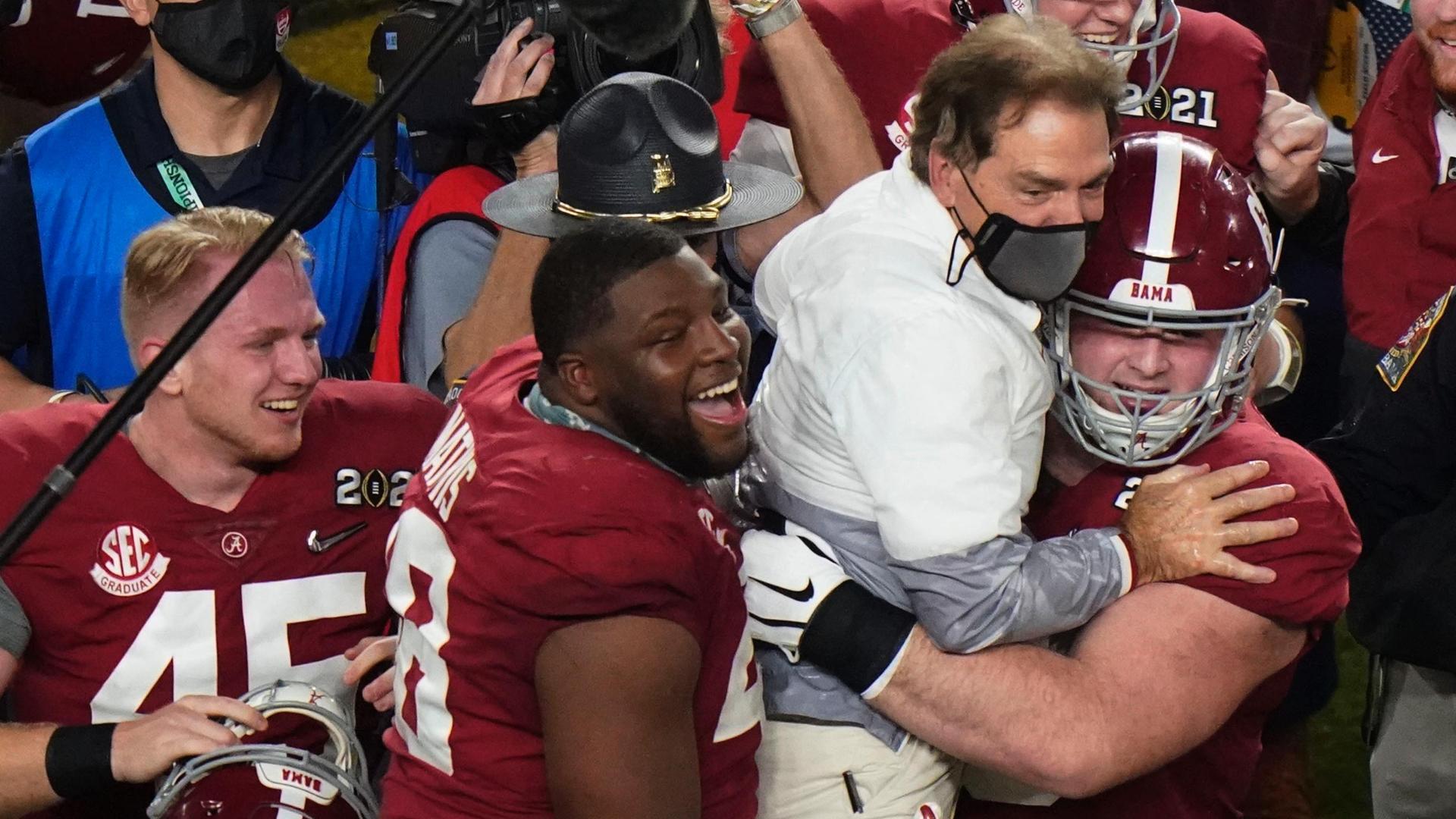 Alabama celebrates national championship