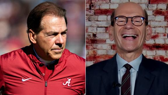 Finebaum jokes about how to improve the CFP: Beg Saban to retire