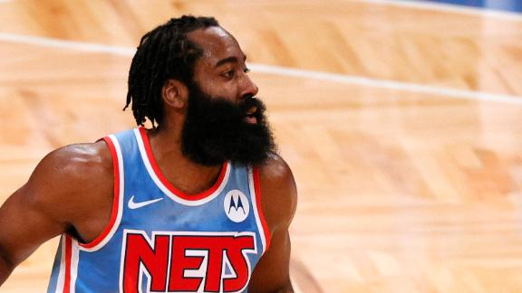 Harden notches triple-double in debut with Nets