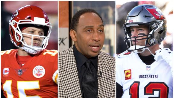 Stephen A. says Mahomes will never be the GOAT if he loses to Brady in the SB