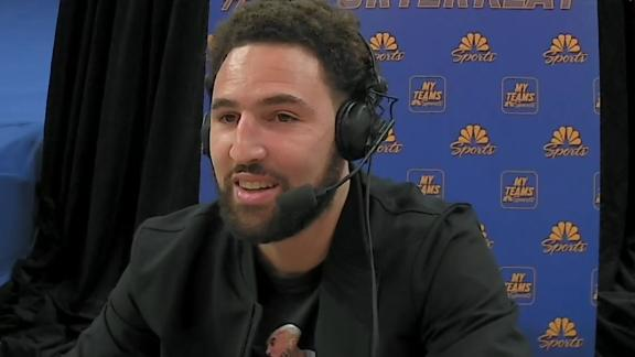 Klay Thompson joins broadcast, updates Warriors Nation on his life