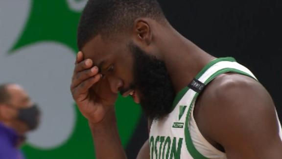 Lakers hold on vs. Celtics after chaotic final sequence