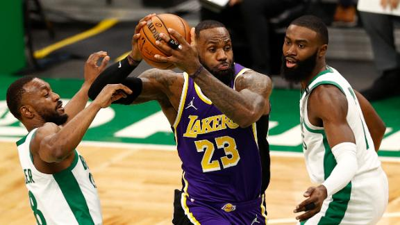Lakers top Celtics in thriller decided in final seconds