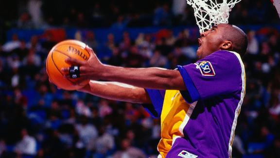 Kobe steals show at 1997 dunk contest