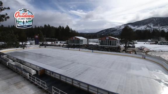 Watch Lake Tahoe transform into an outdoor rink