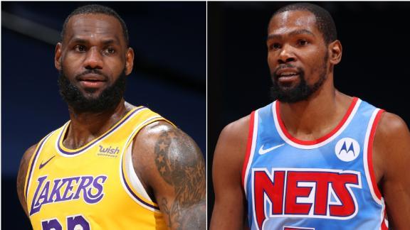 LeBron, KD highlight 2021 NBA All-Star starters