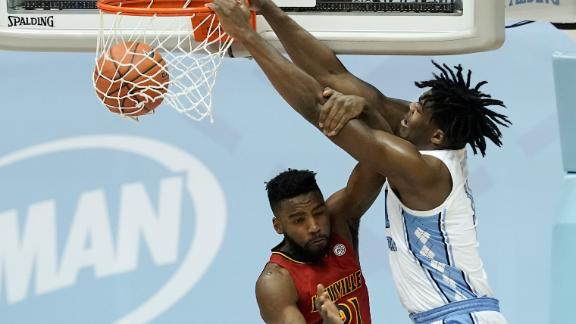 Sharpe caps off UNC's win with big jam on a Louisville defender