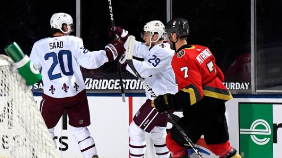 Avalanche's first two goals come over nine hours apart