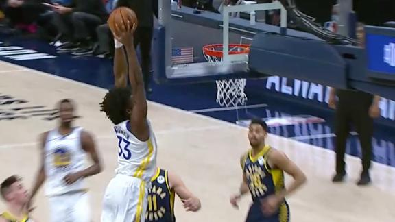 Wiggins sets up Wiseman with an alley-oop