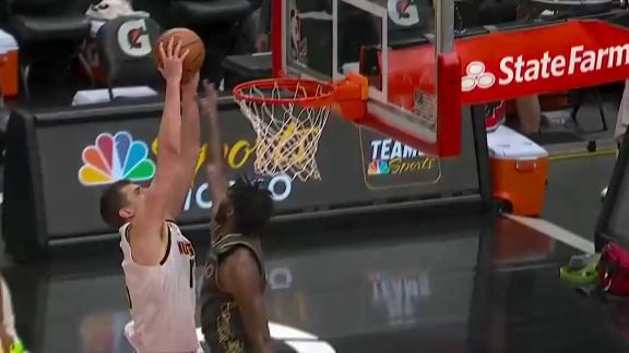 Murray gives to Jokic for an and-1 dunk
