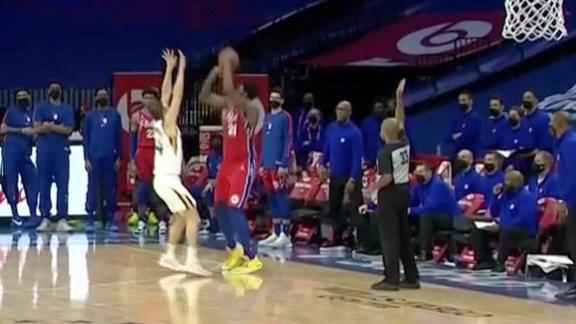Embiid drains game-tying 3-pointer