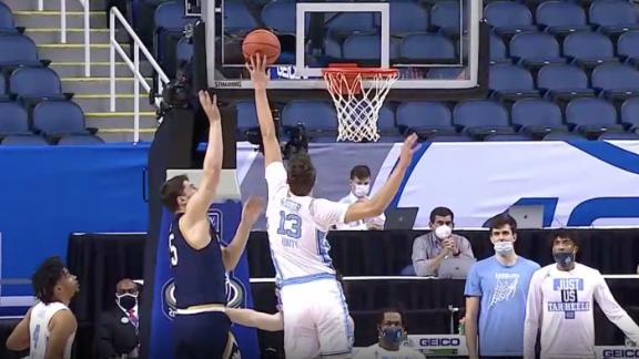 UNC's Kessler comes up with 2 consecutive blocks